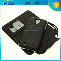 VCASE Flip PU Leather ID Credit Card Wallet Black Case Cover for Samsung Galaxy S3 i9300, cover for galaxy s3