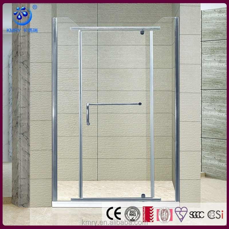China Aluminum Profile Frameless Hinged Cheap Shower Door (KD3005)
