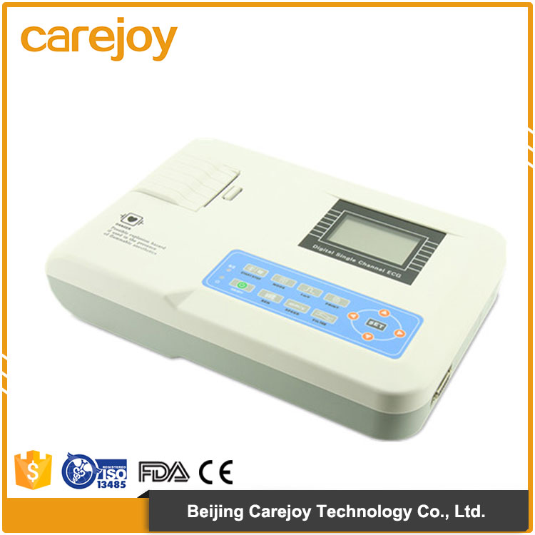 Medical One-touch operation 150Hz one channel digital portable ecg machine