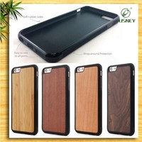 For iphone 6S bamboo TPU phone case supplier for iphone5 wood case