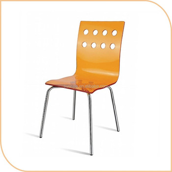 high quality acrylic chair with colorful design/plastic chair SSAC-001