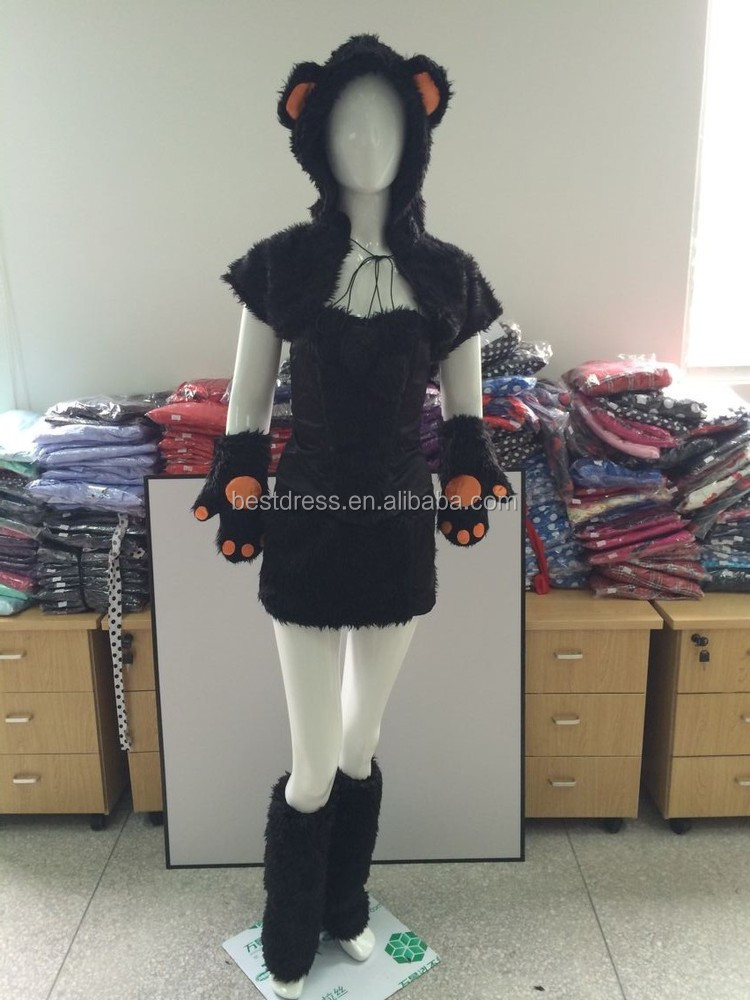 New Quanzhou Halloween Sexy Monster Costume Role-playing Game Animal Rave Party Dress LegWarmers