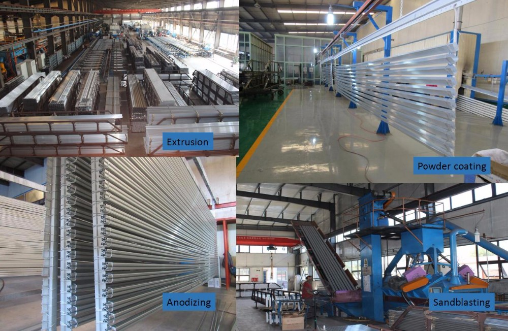 Aluminum Extrusion Profile For Color Anodizing Heat Sink