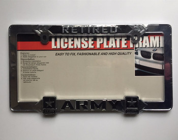 chrome license plate frame plastic or steel, aluminu made custom