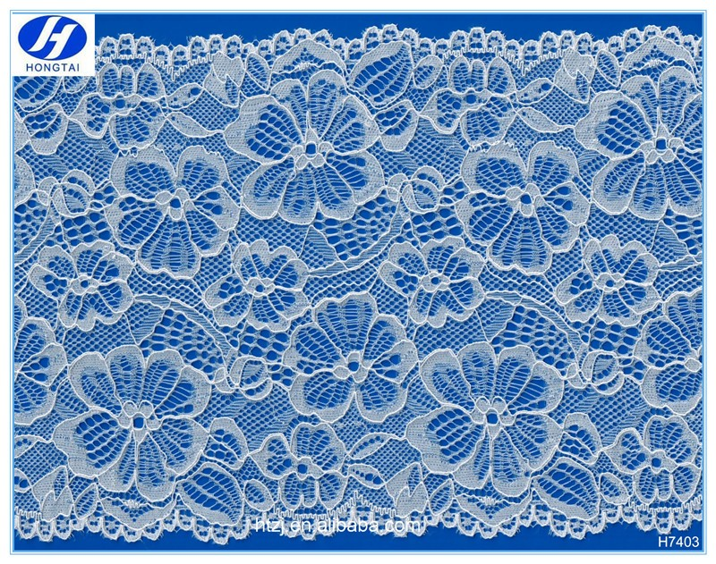 Hongtai 18cm wide brim fashion Wholesale fabric flower embroidery lace trim for girls dress