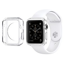 Premium Semi-transparent Super Lightweight / Exact Fit / Absolutely NO Bulkiness Soft Case for Apple Watch 38mm