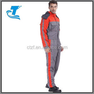 2016 custom men 100 % cotton winter workwear coverall