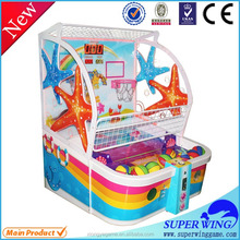 Popular high quality indoor slot machine, children's basketball lottery ticket machine for sale
