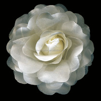 Decorative flower 12cm wide satin silk roses flower for clothes/hair accessories