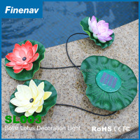 New Design Rechargeable Garden Pool Solar Powered LED Lotus Landscape Flower Light Lamp