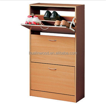 Mordern Wooden 3 Drawer Shoe Cupboard Shore Rack Shoe Organizer Durable Shoe Cabinet For Home Office