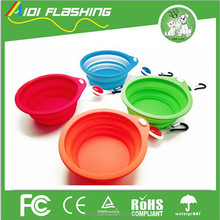 China factory multi-colors pet silicone dog bowl collapsible dog bowl for travel