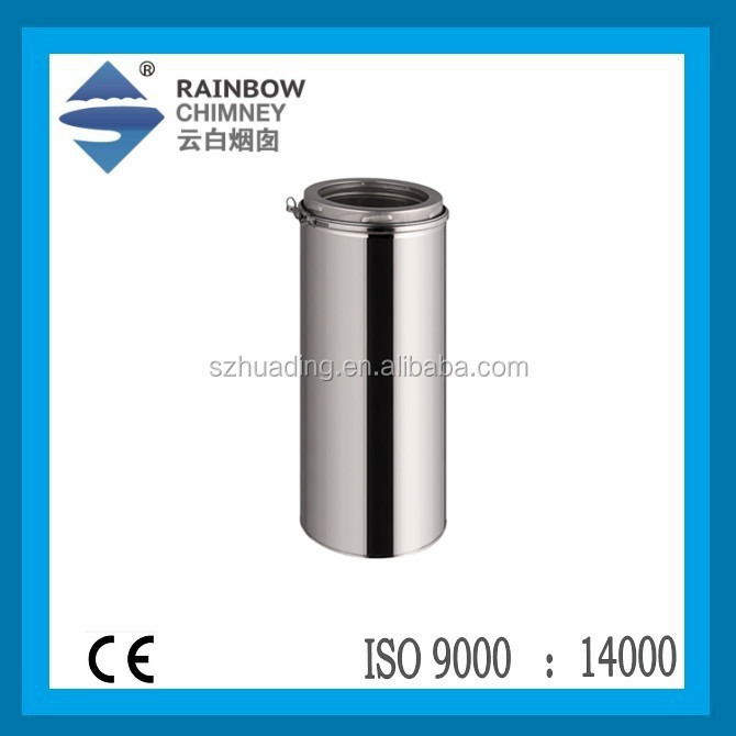 CE stainless steel double wall chimney flue pipe for stove chimney