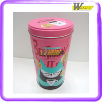 colorful candy packing logo customed metal round tin can box