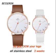 BESSERON 2017 COUPLE Custom Design Watch Japanese pc21s Movement Watch Sony battery Watch