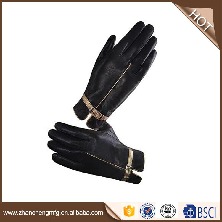 ZHAN CHENG fashio goat skin leather gloves with low price