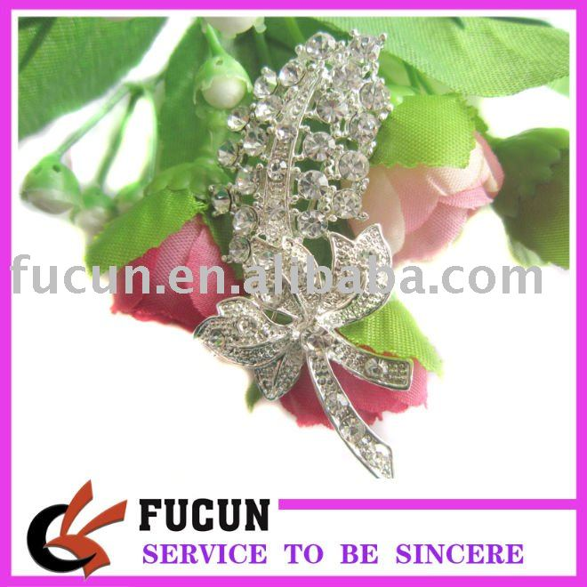 wholesale crystal rhinestone brooch for mermaid wedding dress