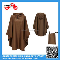 Red Color Polyester Material Waterproof Rain Poncho