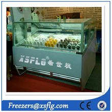 Protable ice cream freezers / popsicle gelato display cabinet with price