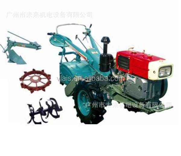 Small Agriculture Cultivator 15HP Farm Diesel Walking Tractor