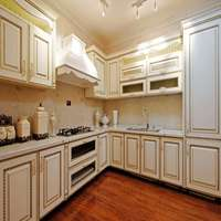 White Wood Modular Kitchen Cabinet