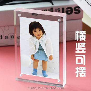 4x6 clear acrylic table photo frame picture frame display sign stand frame