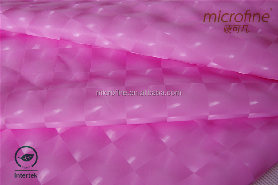 2015 new product weft knitting Shinny waterproof spandex cloth with PU coating