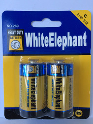 Mercury Free Carbon Zinc Battery R14P C UM-2 ( White Elephant Brand or OEM)