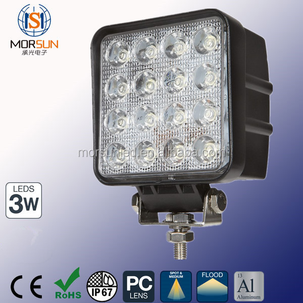 Cheap price off road 48W LED Off Road 4x4 Flood 60 Degree Work Light 4 Inch 48W Square LED Driving Light