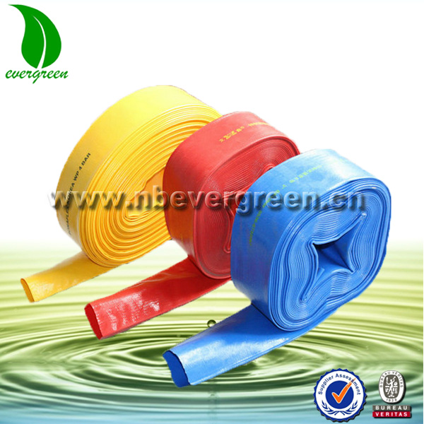agriculture irrigation PVC 6 inch pvc irrigation lay flat hose
