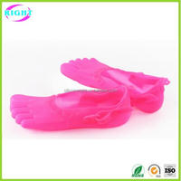 New design silicone beach shoes, five toe rubber shoes