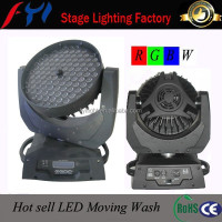 Hot promotion led rgbw zoom 108x3w wash moving head light fixtures in China