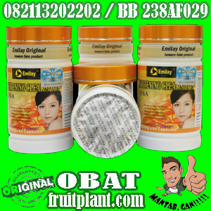 EMILAY WHITENING Softgel USA [082113202202] Pemutih Badan Aman & Herbal