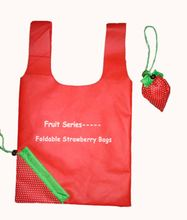 Personalized 190T Polyester Eco Foldable Shopping Bag With Fruit Shape With Your Design