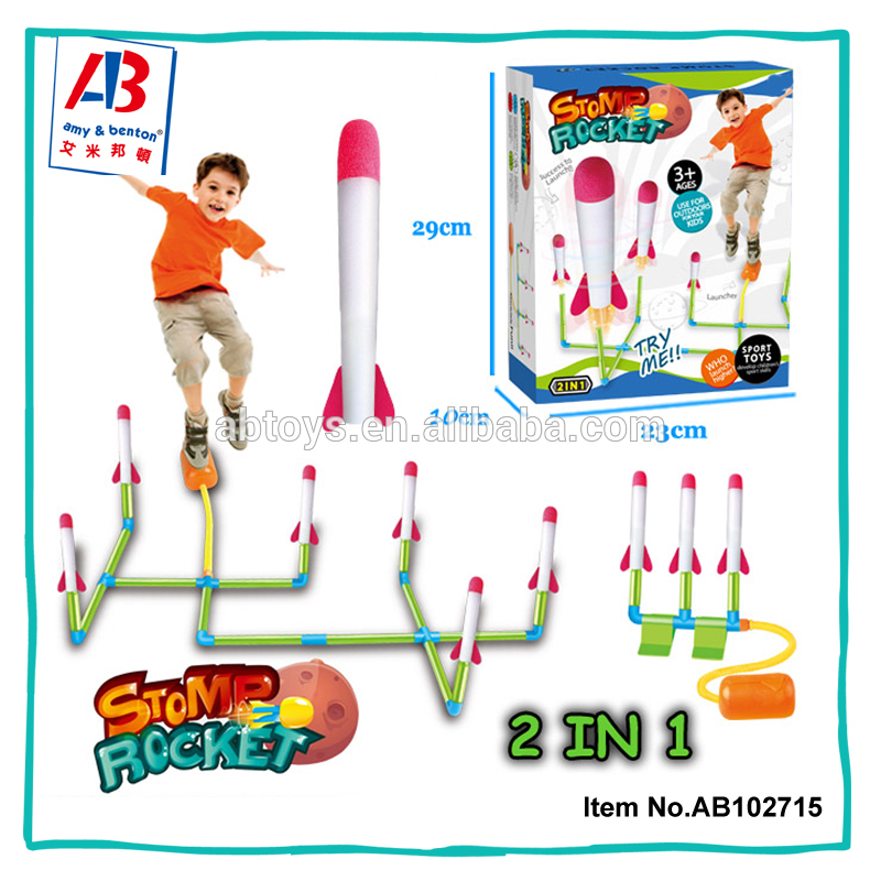 Kids Plastic Air Pump Stomp Rocket Toys