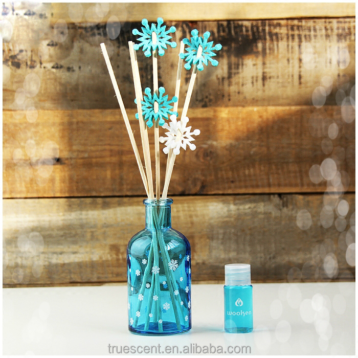 Aroma Reed Diffuser, Solar Flower Sticks with Glass Bottle, Rattan Diffuser Romantic TS-RD1003