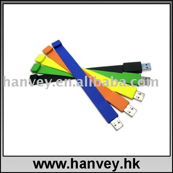 hot soft pvc bracelet usb flash disk 16gb