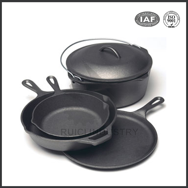 china high quality custom round cast iron skillet with low price