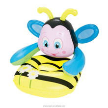 Lovely bee design giant plastic inflatable chair/inflatable kid sofa
