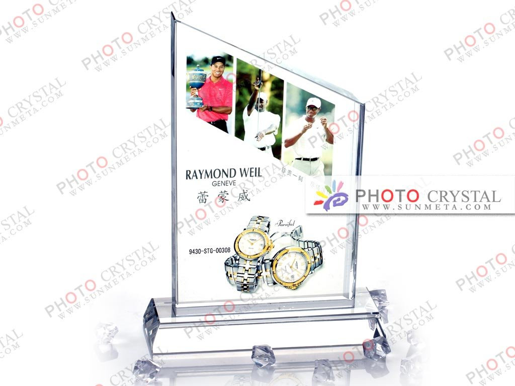 Digital photo crystal glass/gift/occasion/crystal block/promotion/advertising/holiday