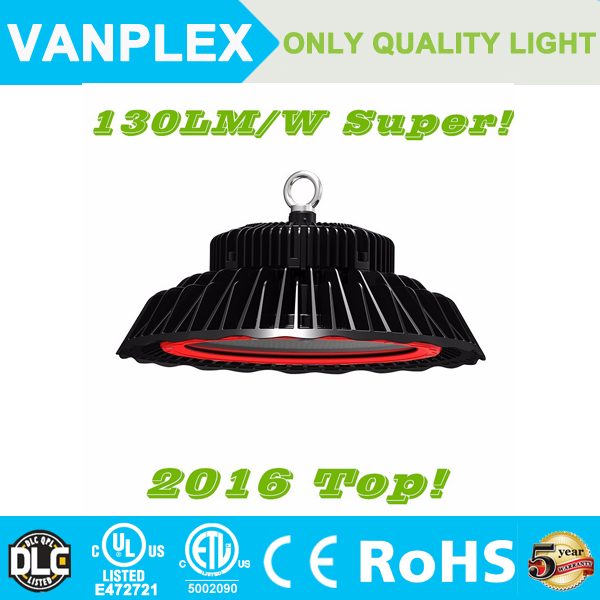 DLC ETL With Nichia chip Mean Well driver led high bay light 100w 200w UFO IP65 waterproof