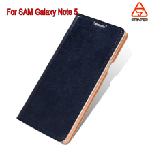 New PU leather phone case cover for SAM Galaxy Note 5, for Samsung Galaxy N9200 Blank Sublimation Leather Phone Case