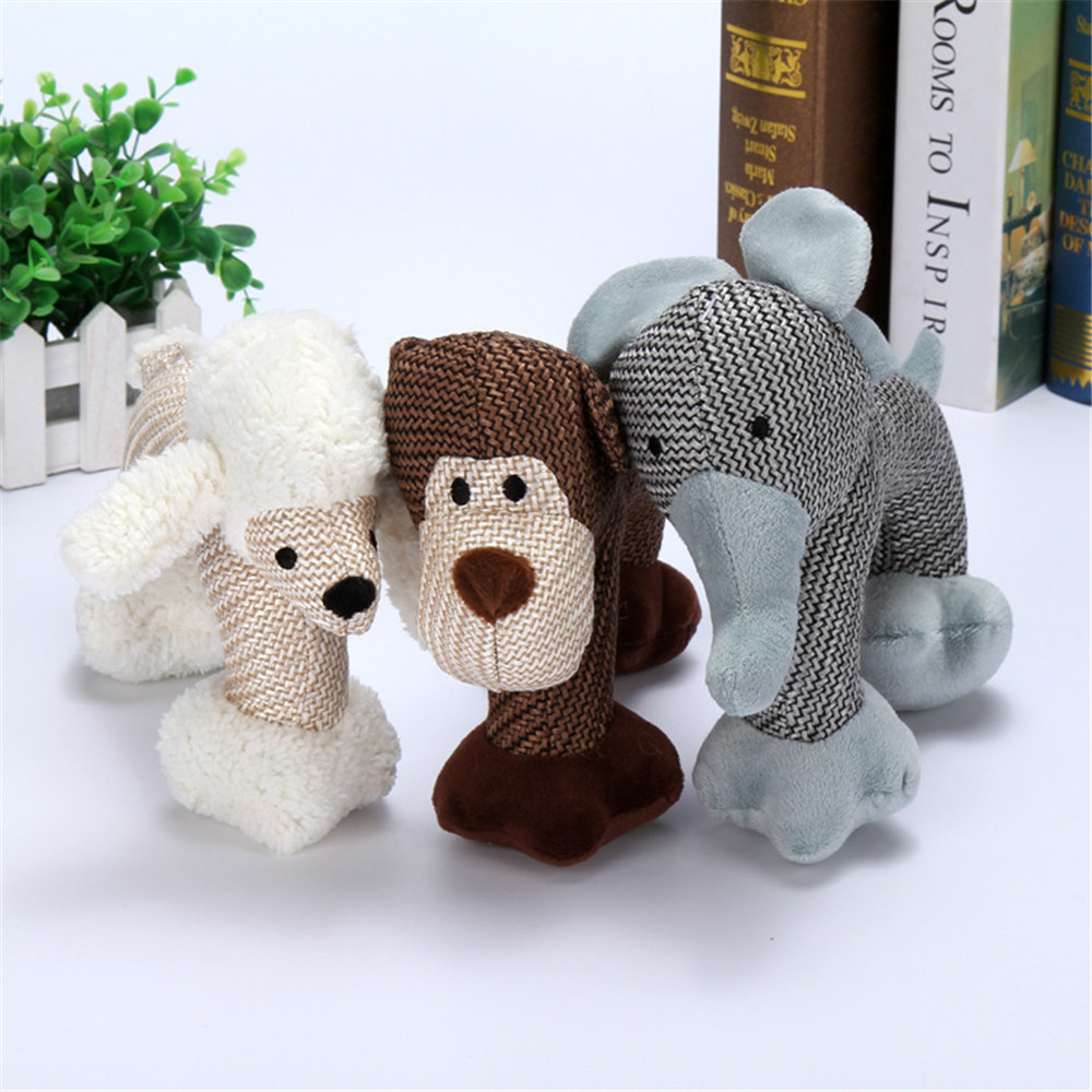 Designer Pet Plush Squeaky Elephant Chew Toy Cheap Dog Toys