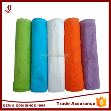 2016 hot selling plain dyed solid color large bath towel