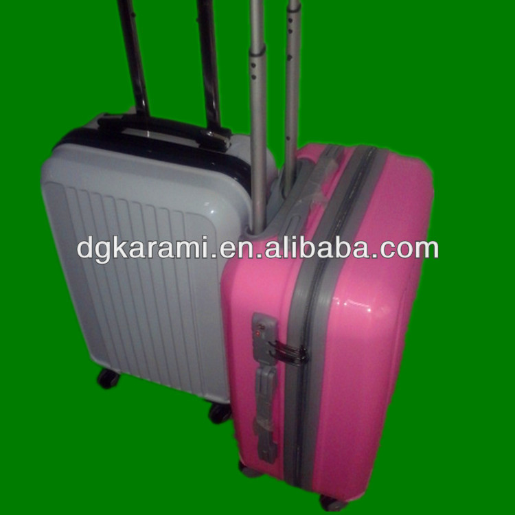 abs+pc trolley luggage , travel suitcase set factory 2014