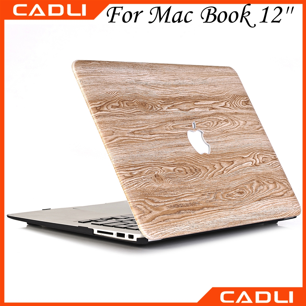 Compatible Brand and Plastic Wood Leather Material Case for Macbook Pro 13