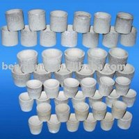 Clay bonded quartz cupels