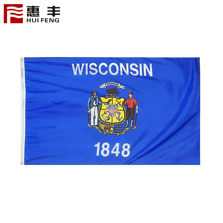 Senior 100% nylon flag fabric with custom tag
