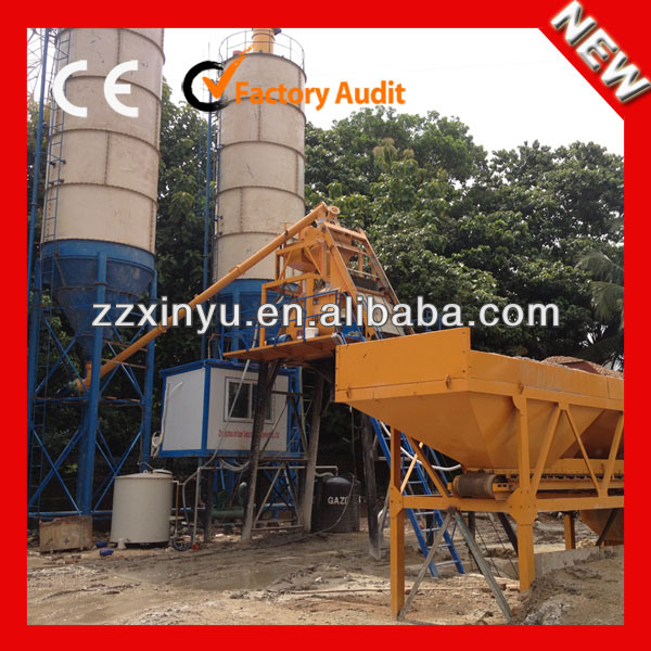 New HZS50 wet ready mixed concrete batching plant