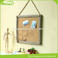 China supplier wholesale decorative special deign with hemp rope on frame custom printed cork board
